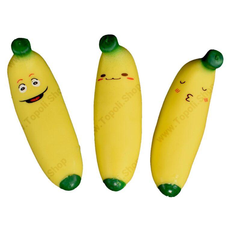 فیجت شنی موز خوشحال مدل Squishy Sand Filled Banana